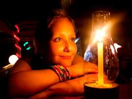 Портрет при свете свечей