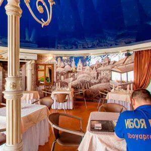 Ремонт в кафе Карусель